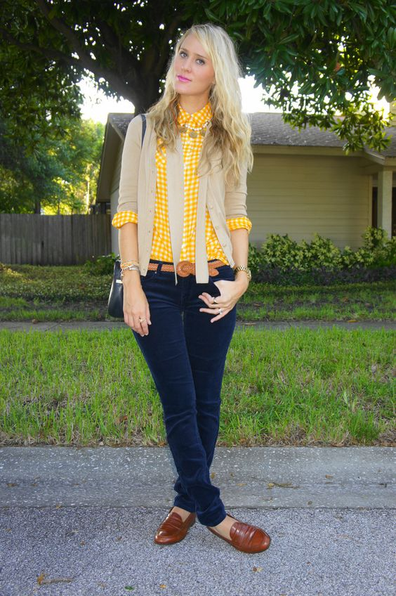 blue and yellow adorable outfit