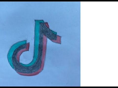 How To Draw A Tik Tok Logo Come Disegnare Il Logo Di Tik Tok Easy Di Symbol Drawing Easy Scenery Drawing Easy Drawings