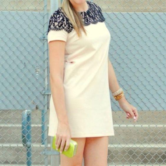 H&M black lace blush dress xs Super cute! No rips tears or stains H&M Dresses