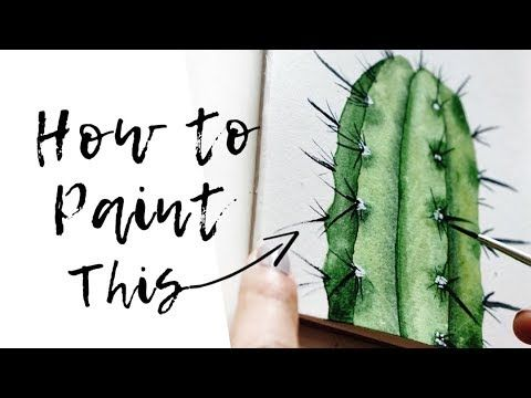 Cactus Acrylic Painting Tutorial By Artist Andrea Kirk The