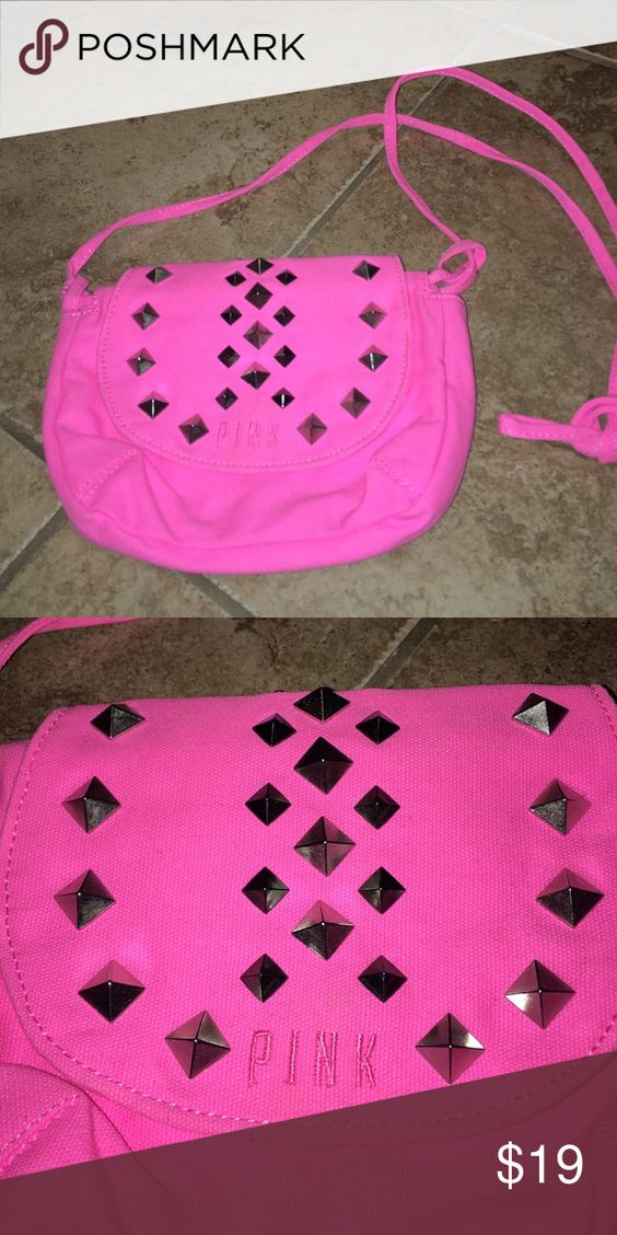 Victoria's Secret Pink shoulder bag Never used Victoria's Secret Pink studded bag PINK Victoria's Secret Bags Shoulder Bags