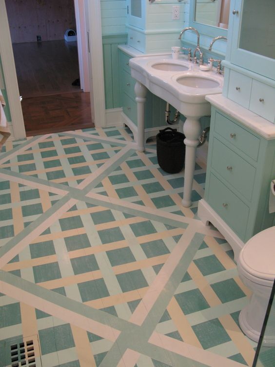 Faux Painted floor CT Multicolored French Basket weave, Marc Potocsky - MJP Studios, CT/NY  http://mjpfaux.com/