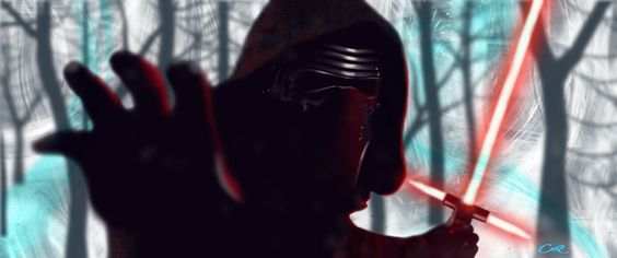"""""""Kylo Ren/Ben Solo"""" painted in Photoshop by Crystal Richardson (Star Wars Episode VII, The Force Awakens)"""