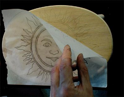 How to make your own transfer paper to transfer an image onto wood.
