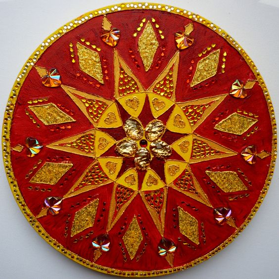 root chakra diameter 60cms £100 on canvas