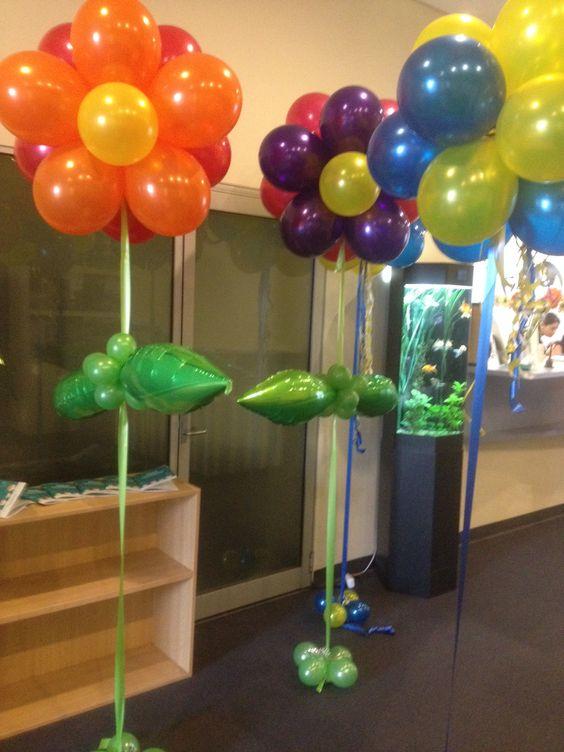 Flower balloon arrangements helium floor