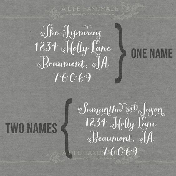 Calligraphy Return Address Stamp - Personalized Return Address Stamp - Dip Pen Calligraphy by alifehandmade