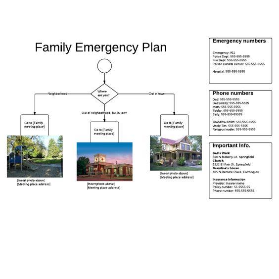 Family Emergency Plan Family Emergency Plan Flowchart