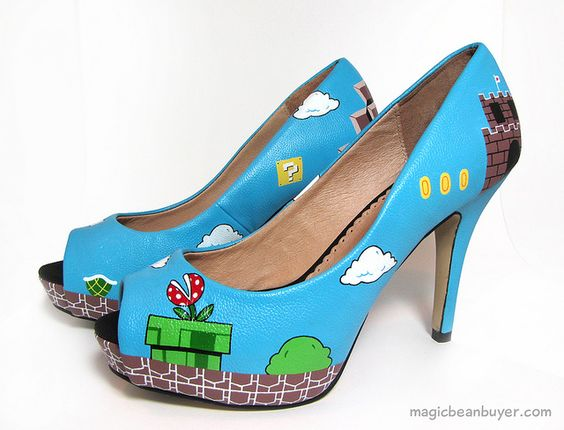 mario shoes. so not cute, but awesome anyway
