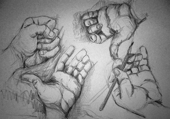 Croquis de manos