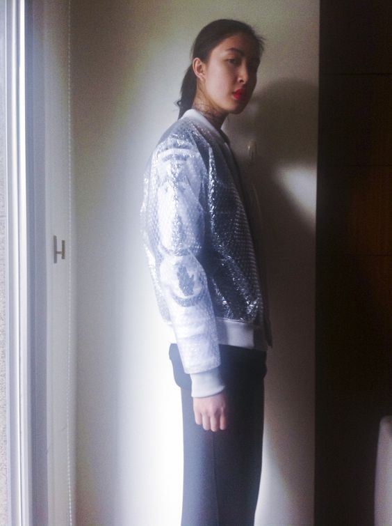 bubble wrap jacket by teenage odyssey