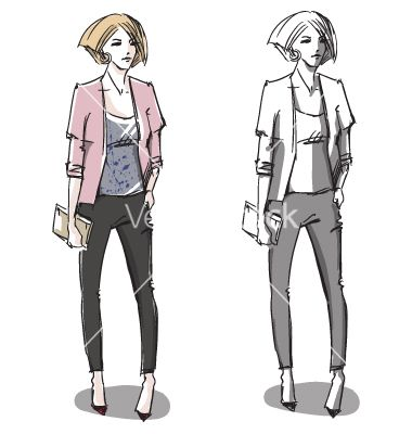 Fashion hand drawn vector sketch  by kamenuka on VectorStock®