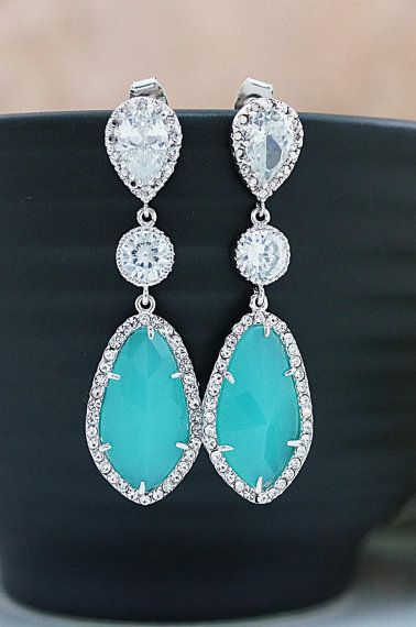 Wedding Jewelry Bridesmaids Gift Bridal Earrings: