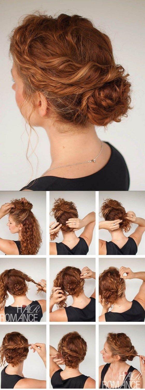peinado recogido para cabello rizado: