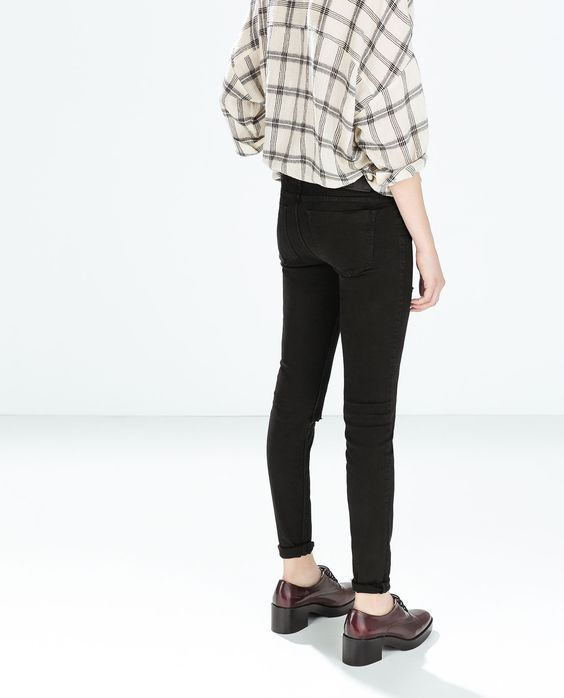 Image 3 of RIPPED JEGGINGS from Zara