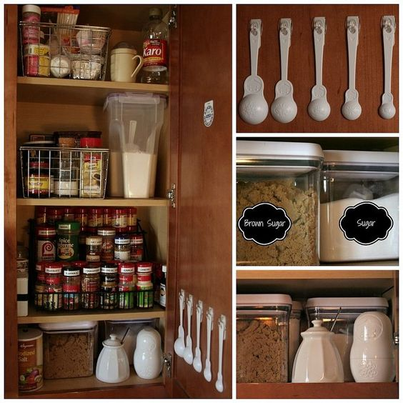 kitchen cabinet organization for cookie sheets