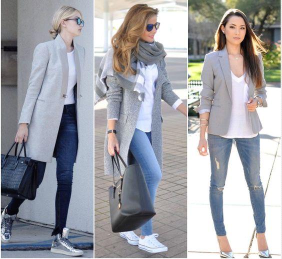 Para Inspirar - Branco, Jeans e Cinza!: