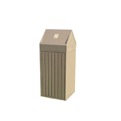 Eagle One Swing Top Diamond Trash Receptacle Size: 22 Gallon, Color: