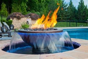 Hammered Copper Fire On Water Bowl Rim Rimtype Rimdesign In 2020 Landscaping Water Feature Backyard Fire Fire Pit Backyard