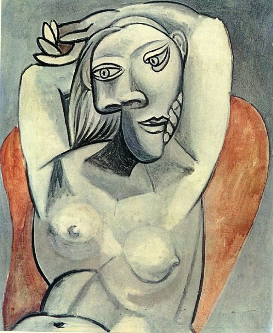 Pablo Picasso - Woman sitting in red armchair, 1939: