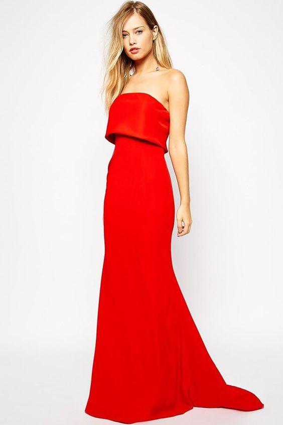 Robes Robe Blazer Rouge Bretelles Avec Overlay – Modebuy.com