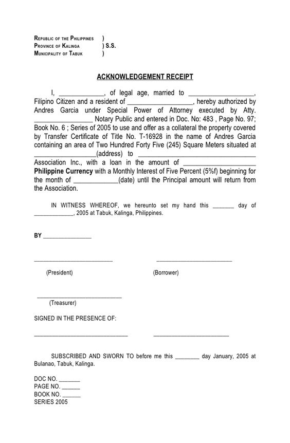REPUBLIC OF THE PHILIPPINES )PROVINCE OF KALINGA ) SS - sample severance agreement