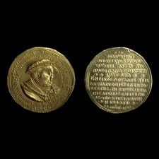 1545: medal celebrating Henry VIII as head of the church