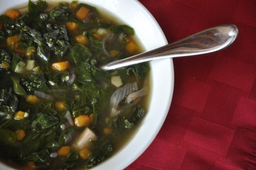 Sweet Potato & Greens Soup with Ginger | Soups, Potatoes and Sweet ...