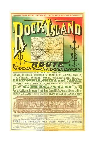 Art Print Rock Island Line Poster 24x16in Rock Island Art Prints Art