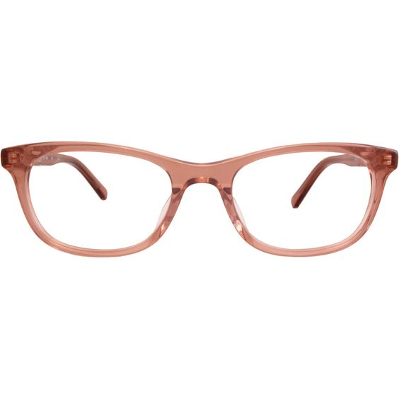 The new Maggie frames from Flower Eyewear might look all business but they balance their polished professionalism with a wink. Available in crystal clear, shiny black, and Tokyo tortoise shell. FLR6003 Nude Front