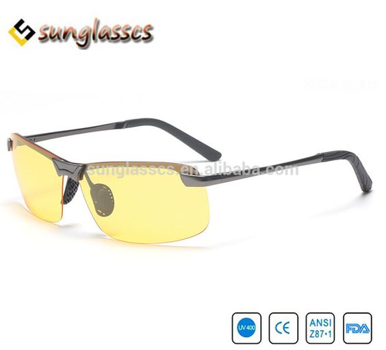 610dec751c8 New arrival Plastic Resin HD High Definition Night Vision Polarized Glasses  Driving Yellow Lens Classic Aviator