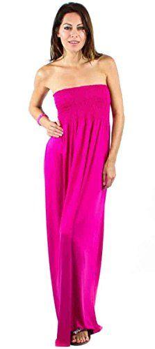 Eighteen Fuchsia Plus Size Strapless Maxi Dress