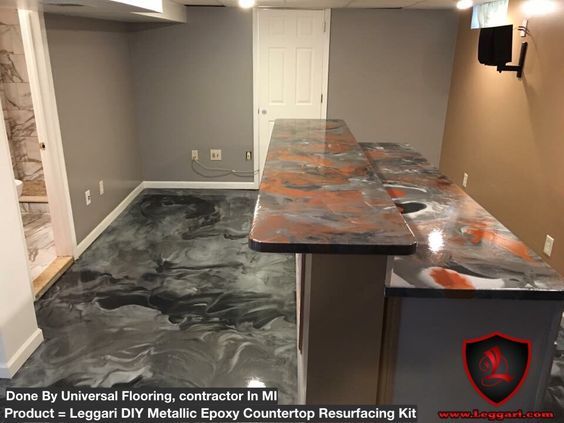 #DIY #metallic #epoxy #countertop #resurfacing #kits and #metallicepoxy #floor #coating installed by @universal_flooring #highgloss #ındustrial #epoxy #coatings from #leggariproducts #countertopresurfacing #countertopcoatings