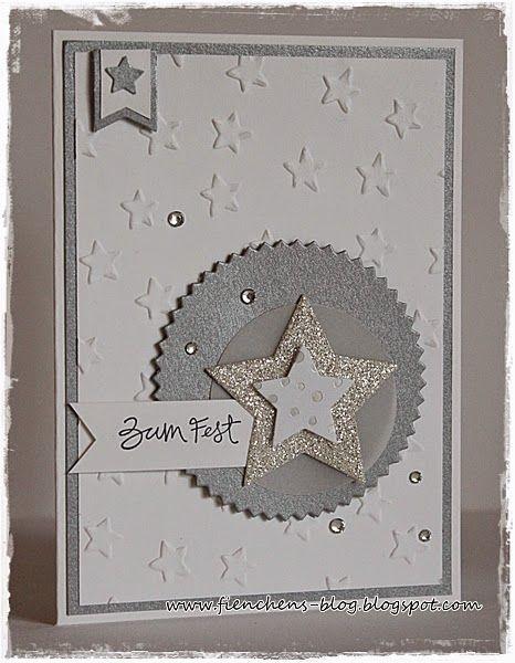 fienchen s stempelwelt weihnachtskarten ideen und anleitungen pinterest lucky star paper. Black Bedroom Furniture Sets. Home Design Ideas