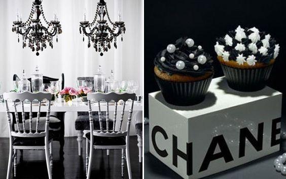 Fuja do rosa! Aposte na decoração em preto e branco para a sua festa de 15 anos! - Blog 15 anos - CAPRICHO: