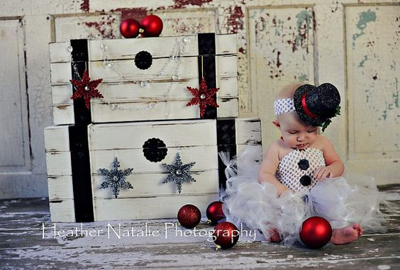 SNOWBABY Crocheted Snowman Tutu Dress with by goodygoodytutus