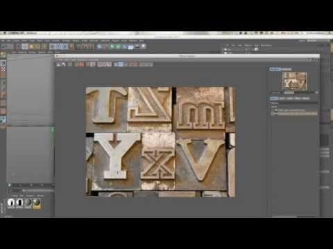 Creating Wood Block or Cast Metal Type In Cinema 4D - tutorials be eyedesign