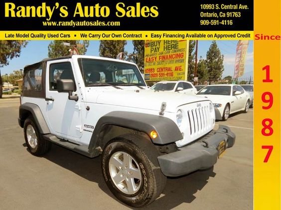 2014 Jeep Wrangler. Taking pride in providing a huge selection of quality Pre-owned vehicles, at fair & low prices, guaranteed to satisfy the pickiest shopper, and fit the tightest budgets.  #Randys #Auto #Sales #Preowned #Dealership #Financing #Credit #Used #Car #Trucks #MiniVan #Hybrid #SUV #Crossover #ontartio #riverside #inlandempire #jeep #wrangler