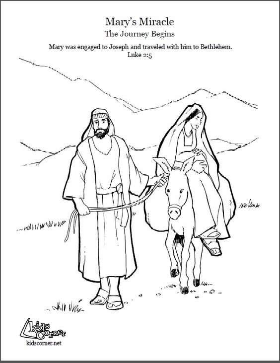 The Story Of Mary Marys Journey Coloring Page Audio