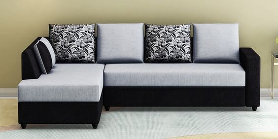 Buy Victoria Rhs Sectional Sofa In Grey Black Colour By Muebles Casa Online Lawson Rhs Sectional Sofas Sectional Sofas Furniture Pepperfry Product Sectional Sofa L Shaped Sofa Sofa Furniture