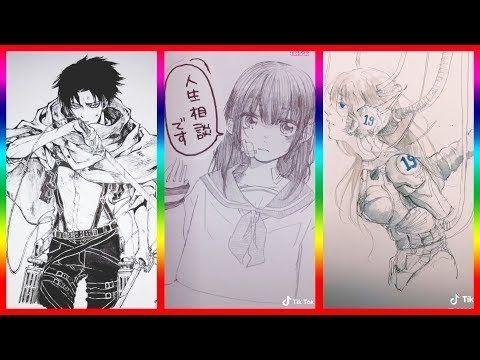ティックトック イラスト ック絵 tik tok paint anime 54 youtube イラスト 絵 動画