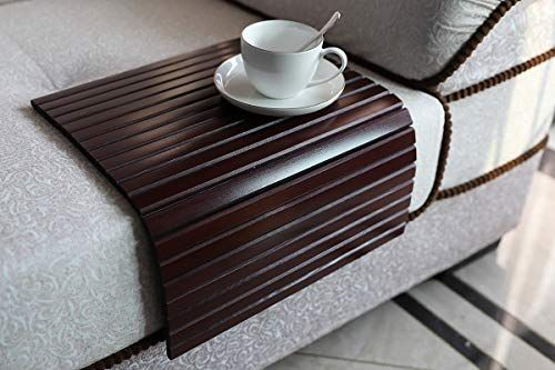 Gehe Sofa Arm Tray Table Flexible Foldable Sofa Tray Couch Arm Table Perfect For Drink Snacks Great Arm Tray For Couch Armrest Couch Arm Table