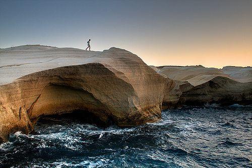 Greece - sarakiniko - milos by Massimo Palmieri, via Flickr