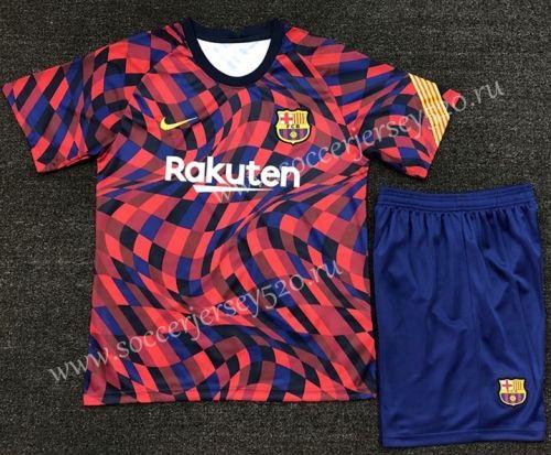 2020 2021 Barcelona Red Blue Black Soccer Uniform In 2020 Soccer Uniforms Red And Blue Soccer