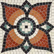 Blue Rose Polish Pottery Mosaic Flower Landscaping