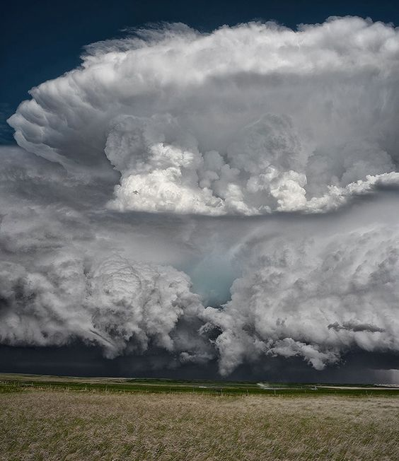 An incredible storm over the Great Plains in Montana.
