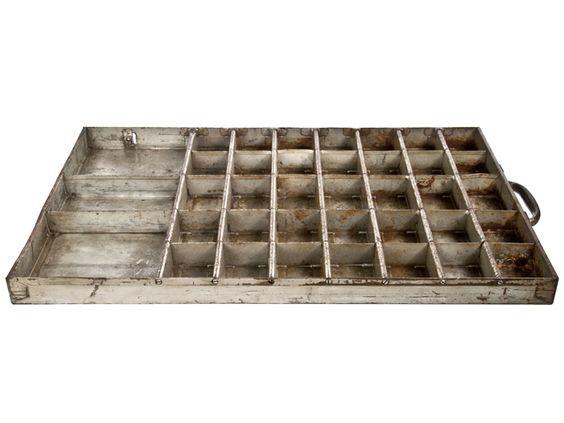Vintage Metal Type or Hardware Storage Drawer - Relique
