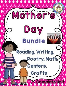 Our Mother's Day Bundle is full of language arts and math activities, gift ideas and crafts to make for Mother's Day - glyph, missing addends, root words, comprehension, informational book and much more! This mega- packet has it all! You should need nothing else for Mother's Day and all activities are Common Core rich!