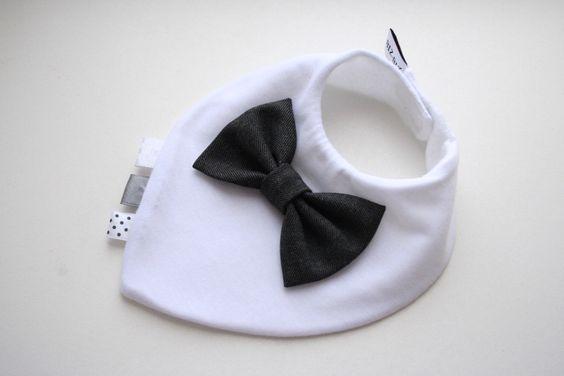 Bow tie bib baby bandana bib removable bow tie, nice baby shower, baptism gift for newborn, infant by BizBizBaby on Etsy https://www.etsy.com/listing/153945856/bow-tie-bib-baby-bandana-bib-removable