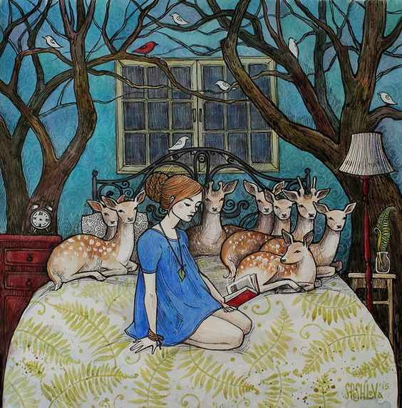 little-bone-cupboard:  Bedtime Story by AnnWeaver: